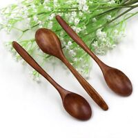 1PC Japanese Style Wooden Rice Bowl Soup Spoon Natural Wood Tableware UK Stock!