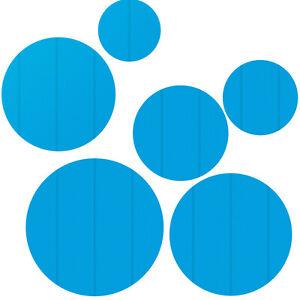 Bâche à bulles piscine ronde de protection couverture extérieure bleu