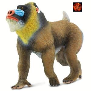 Mandrill Baboon Monkey Wildlife Toy Model Figure by Safari Ltd 100273 New
