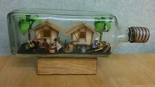 Philippines Village In Bottle ~W&A Gilbey 750ML ~Diorama Handmade ~Doing Chores