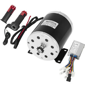 24V 500W DC Electric Motor Amp Control Throttle Kit Reduction Go Kart Scooter