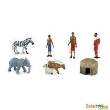AFRICAN VILLAGE DESIGNER TOOB by Safari Ltd/677604/ZEBRA/ELEPHANT/HUT/TOY