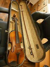 Alte 3/4 Geige spielbar mit Holzkoffer zum restaurieren