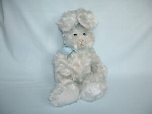 RUSS BERRIE & CO MY FIRST EASTER PLATINUM BUNNY RABBIT Soft Beanie Plush Toy