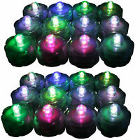 New 24 pcs Multi-Color Changing underwater LED Submersible Candles LED tealights