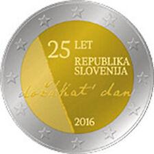 2 euro Slovenia 2016 Indipendenza da Iugoslavia Jugoslavia Slovenie Slovenija