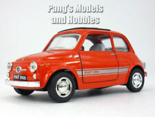 Classic Fiat 500 1/24 Scale Diecast Model by Kinsmart - RED