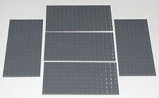 LEGO LOT OF 5 NEW 8 X 16 DOT DARK BLUISH GREY PLATES PLATFORMS BUILDING BLOCKS