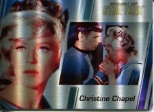 Star Trek Women Of 50th Metal Parallel Base Card #7 Christine Chapel and Spock