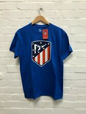Atletico Madrid CF Men's Club Class Crest T-Shirt - Various Sizes - Blue - New