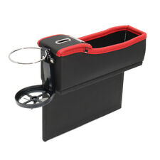 Car SUV Seat Driver Side Catcher Gap Filler PU Storage Box Collector Cup Holder