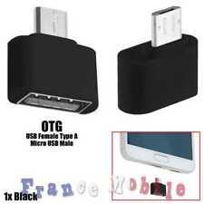 Mini Adaptateur Micro USB Male vers a USB2.0 Femelle OTG Pour Huawei Sony Noir