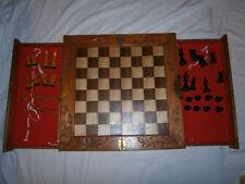 SCHACH Grosses Schachbrett ca. 46 x 46cm mit Schachfiguren (König 8cm)
