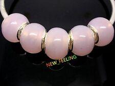 Fashion Pure Color Lampwork Glass Big Hole Beads Fit European Charm Bracelet