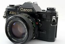 N-Mint 🌟 Canon AE-1 Black 35mm SLR Film Camera + New FD 50mm F/1.4 Lens f Japan
