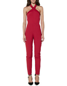 MOSSMAN MY EYES ADORE YOU WOMENS JUMPSUIT RED SZ 10 FREE POST (H27)