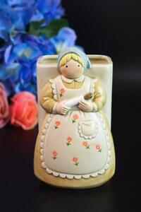 Vintage OTAGIRI JAPAN Figural Utensil Holder Kitchen RETRO Handpainted MCM