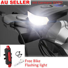 USB Recharge MTB Road Bike Bicycle Cycling Head Front Lights Rear Tail Lamps Set