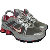 Nike Shox Remix+ Women's Size 8.5 Running Shoes 331152-011 Silver Pink 2008