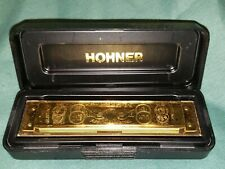 """New listing M. Hohner Marine Band Limited Edition Harmonica #1896 Gold With Case Key Of """"C"""""""