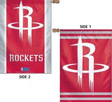 "Houston Rockets 2 Sided NBA Vertical House Flag Licensed Basketball 28""x40"""
