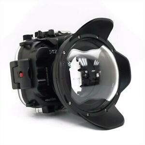 Seafrogs 40m/130ft Underwater Camera Housing Case For Fujifilm X-T2 w/ Dome Port