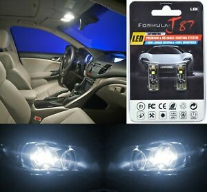 Canbus Error LED Light 194 White 5000K Two Bulbs Front Side Marker Replace Fit