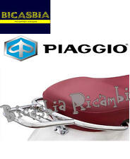 9424 - PLAQUE PORTE-BAGAGES CHROME PE COFFRE VESPA 50 125 150 PRIMAVERA SPRINT