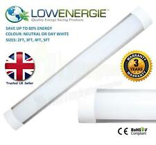 LED Batten Slimline Tube Light Wall or Ceiling Mount Slim Line High Lumens