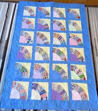 USA Made Lap/Toddler Size Quilt Patchwork Fans W/ Feedsack Prints