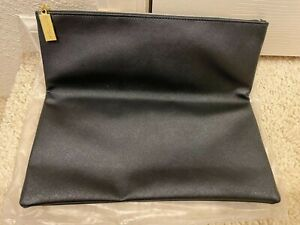 BRAND NEW Estee Lauder Faux Leather BLACK Cosmetic Makeup Hand Bag Clutch Pouch