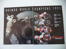advertising Pubblicità 1991 BREMBO e WAYNE RAINEY/DOUG POLEN/LUCA CADALORA