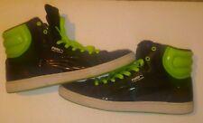 PUMA Men's First Round S Mix Sneaker,Black/Jasmine Green Size 13