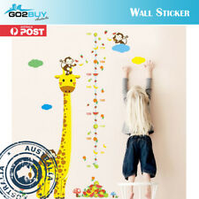 Wall Stickers Removable Giraffe Monkey Height Kids Nursery Decal Growth Chart B