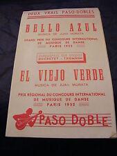 Partitura Azul de Bello El Viejo verde Juan Morata1952
