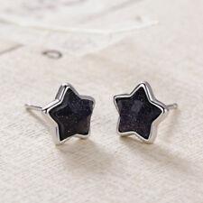 Popular Sky Aventurine Goldstone Lucky Star Stud Earrings Women Jewelry Gifts