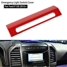 Red Emergency Light Lamp Switch Cover Frame Bezel Trim Panel For Ford F150 2015+