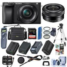 Sony Alpha a6400 Mirrorless Camera with 16-50mm f/3.5-5.6 OS Lens W/Accesory Kit