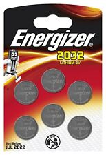 Energizer CR2032 3V Pack of 6 Lithium Coin Cell Battery 2032 Brand NEW