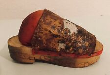 Antique Vintage Leather Shoe Pincushion. Has Wood Bottom And Heel Pre-1930 Chile
