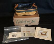 Longaberger Collectors Club 2002 Renewal Basket Protector & Liner New in Box Coa