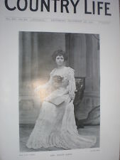 Printed photo Mrs Willie James daughter Sir Charles Forbes of Newe 1904