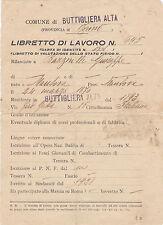 BUTTIGLIERA ALTA TORINO ESITO SERVIZIO MILITARE LIBRETTO DI LAVORO 1938 2-152