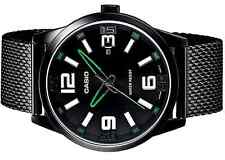 Casio MTP1351BD-1A3 Mens Black Stainless Steel Mesh Band Modern Dress Watch NEW