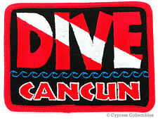 Dive Cancun - Embroidered Patch Scuba Diving Flag Logo Iron-On Travel Souvenir