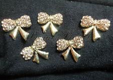 (5pcs) nail art charms champagne rhinestones diamonds b82 acrylic, gel nails NEW