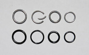 Nose Ring. Choice of 1.6mm or 1.2mm. 8 or 10mm in Black or Stainless Steel.