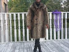 Excellent Full pelt Man's Raccoon Fur Jacket Coat  S-M  Men