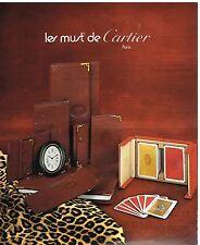 Publicité Advertising 1978 Maroquinerie accessoires Les Must de Cartier