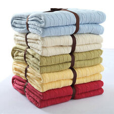 Thicken Knitted Cotton Throw Blankets Sofa Cover Bed Office Nap Blanket Decor